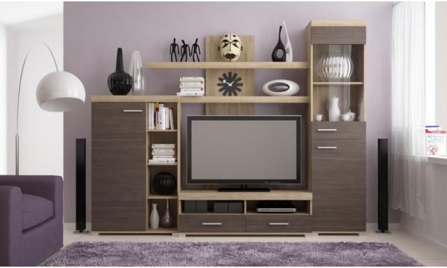 Moderná obývacia stena majster