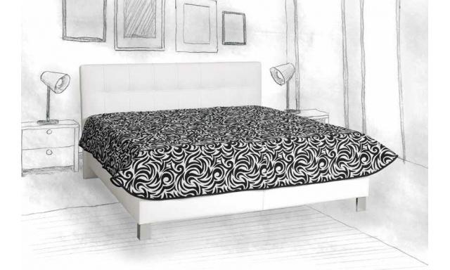 Čalúnená posteľ Elsa, 160x200cm, biela