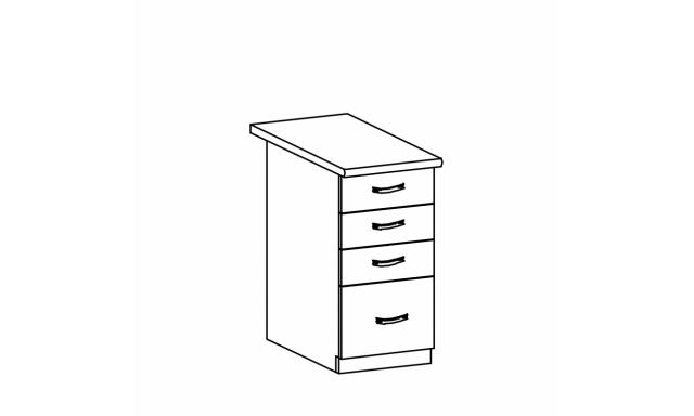 REVAL dolná skrinka 40cm - 4 zásuvky