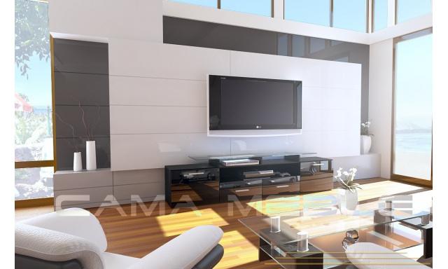 TV stolík Evora, černá/černý lesk