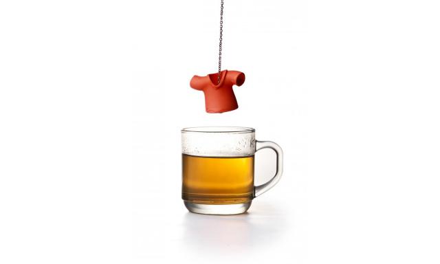 Čajové sitko Qual Tea Shirt, červené