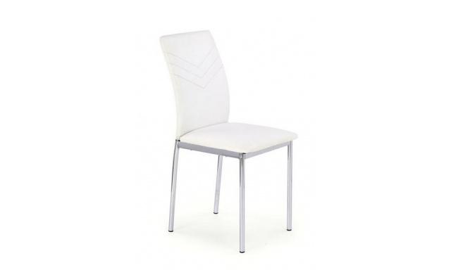 Čalúnená jedálenská stolička H601, biela