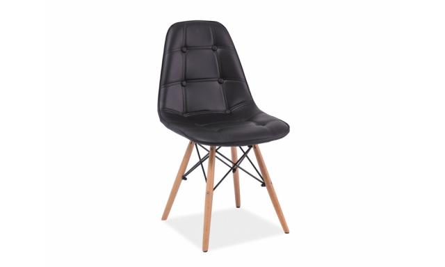 Dizajnová jedálenská stolička Alexis, čierna