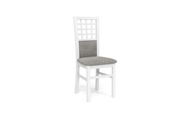 Jedálenská stolička Girona, biela / sivá