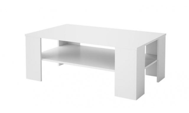 Lacný konferenčný stôl Helly, biely