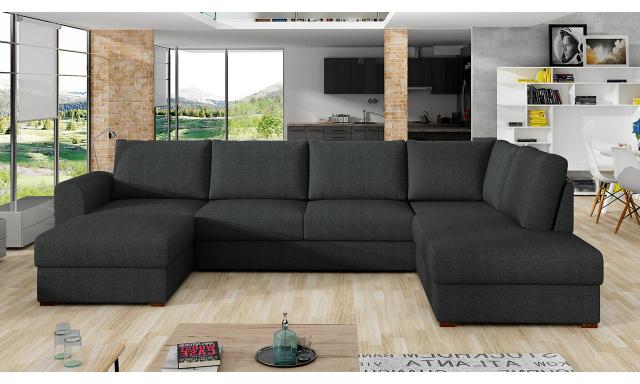 Moderná sedacia súprava Wilson, čierna