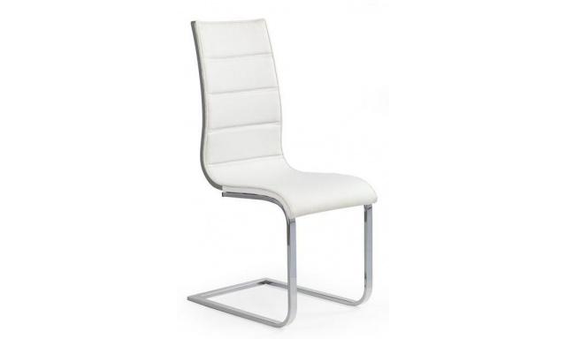 Dizajnová jedálenská stolička H502, biela