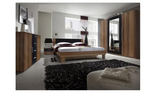 Spálňa Veronika s postelí 180cm, ořech/černá