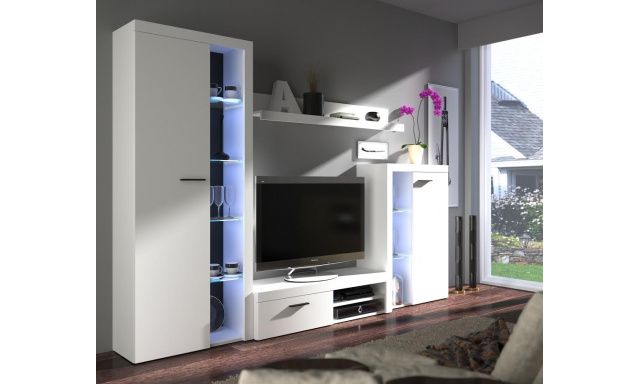 Moderná obývacia stena Rask, biela