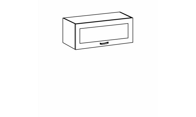 REVAL horná skrinka 80cm - vitrína nízka