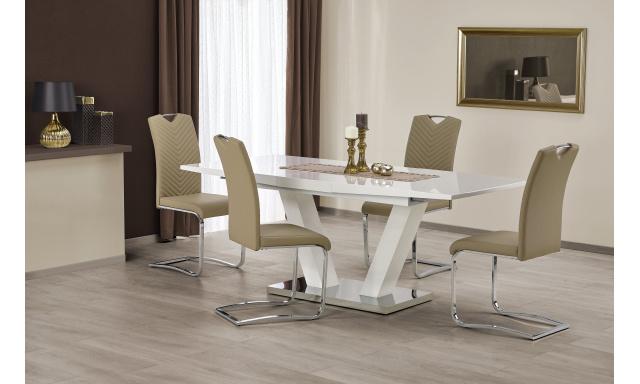 Luxusné jedálenský stôl Vindigo, biely