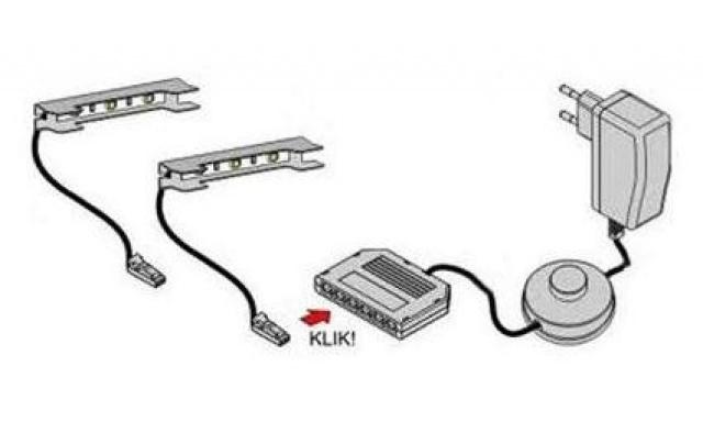 LED osvetlenie 3-bodové MODRÉ