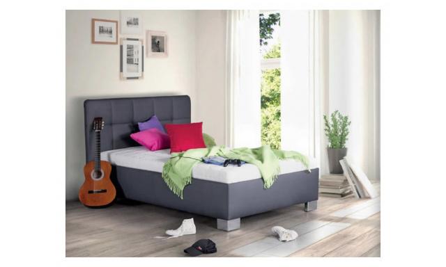 Kvalitná posteľ Kelly, 90x200cm, matrace Nelly, šedá
