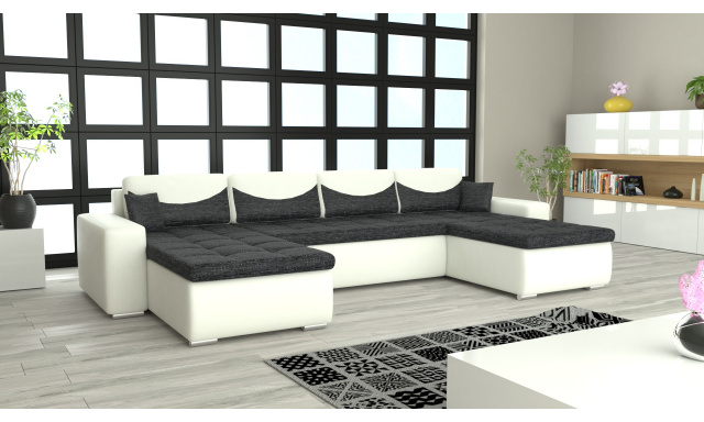 Moderná sedacia súprava v tvare U York, biela