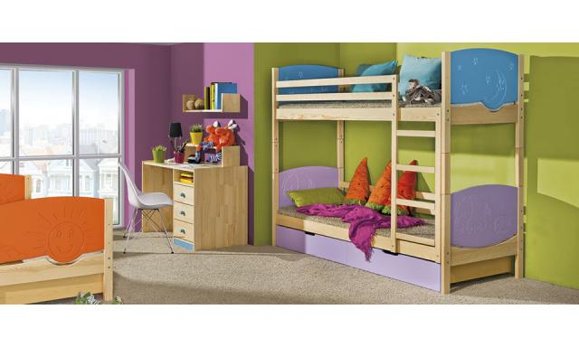 Detská posteľ Timo - poschodová, masív