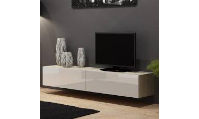 Moderný TV stolík Igore 180, sonoma/bílý lesk