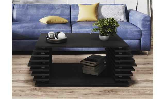 Moderný konferenčný stôl Oskar, čierny mat