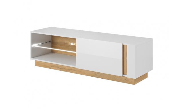 TV stolík Airo 138, biely lesk