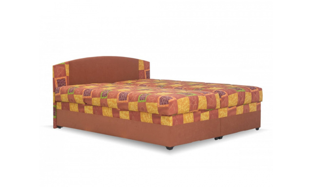 Lacná posteľ Kappa, 180x200cm, oranžová