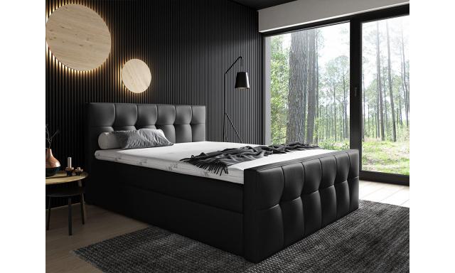 Kontinentálna posteľ Mirage 180x200, čierna