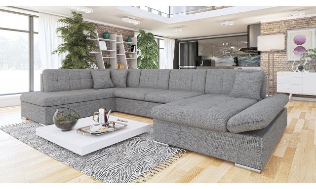 Luxusná sedačka v tvare U Bravo, sivá