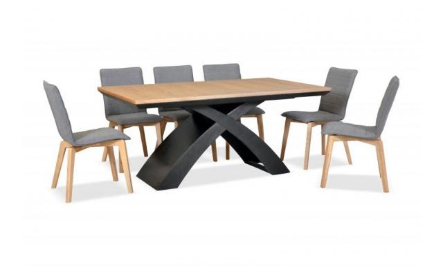 Jedálenský stôl z dubového masívu Eskimo 47, rozkladacie (170-270cm)