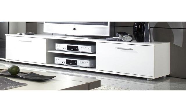 Moderný TV stolík Zita 180, bílá/bílý lesk