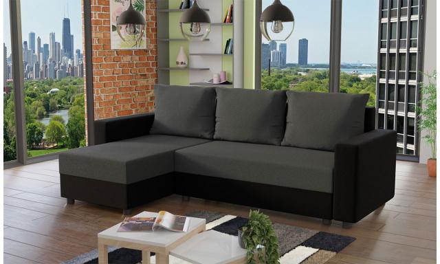 Moderná sedacia súprava Vibes, čierna / sivá