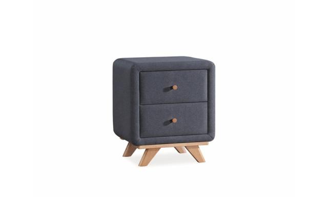 Noční stolek Malto tmavě šedý