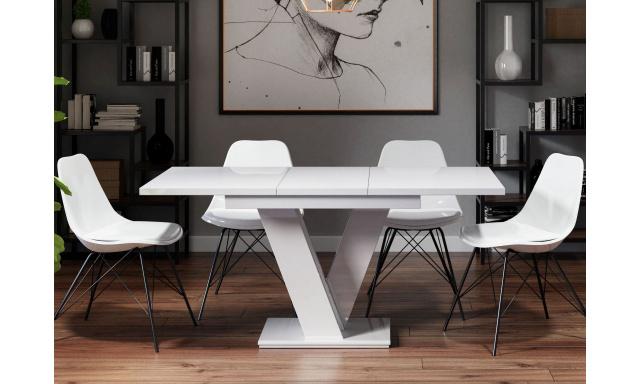 Rozkladací jedálenský stôl Master, biely mat