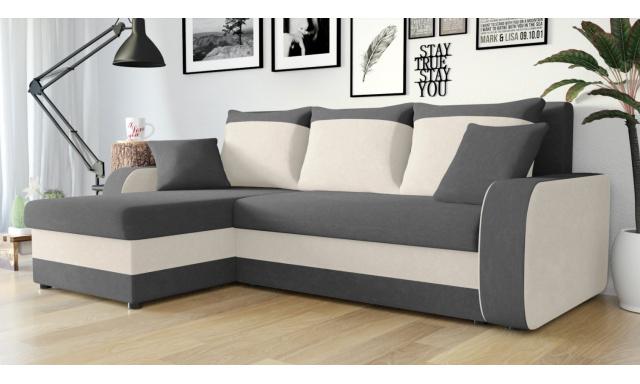 Moderná sedacia súprava Kronos, sivá / béžová
