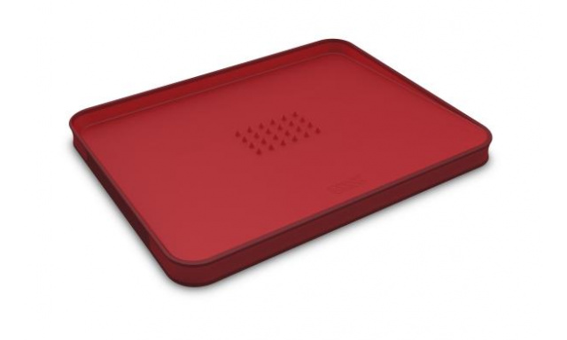 Multifunkčná doska na krájanie JOSEPH JOSEPH Cut & Carve ™ Plus, malé / červené