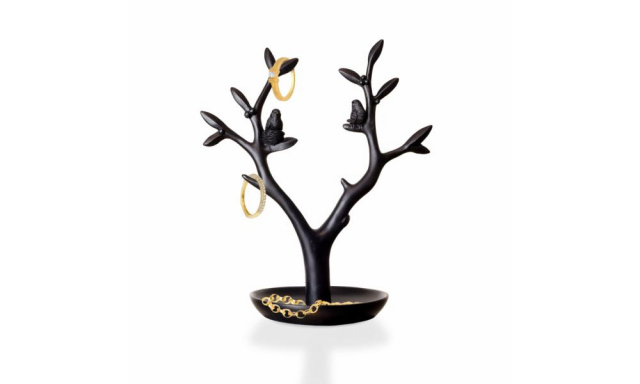 Stojánek na šperky INVOTIS Magpie, černý