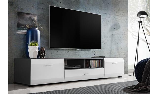TV stolík Clip, grafit / biela