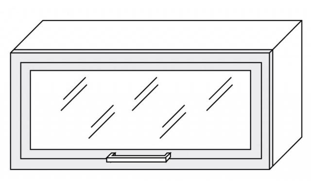 PLATINUM horná skrinka 80cm W4bs / 80 ALU