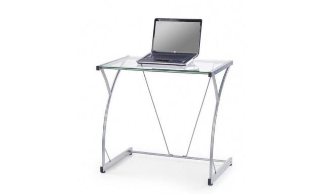 PC stůl H-20 čiré sklo