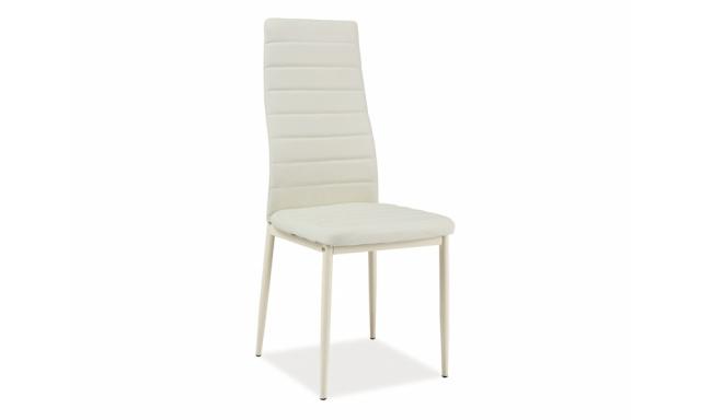 Moderná jedálenská stolička SIG261, krémová