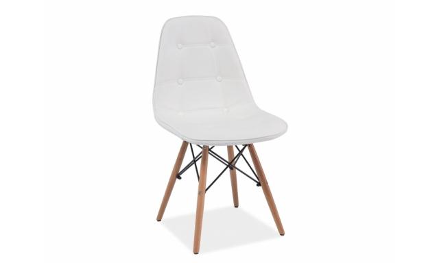 Dizajnová jedálenská stolička Alexis, biela