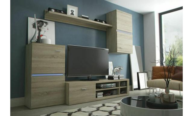 Moderná obývacia stena Istria, sonoma