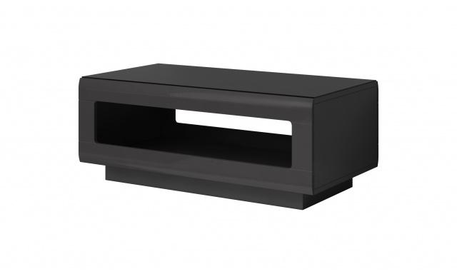 Konferenčný stôl Mango 99, sivý / čierne sklo