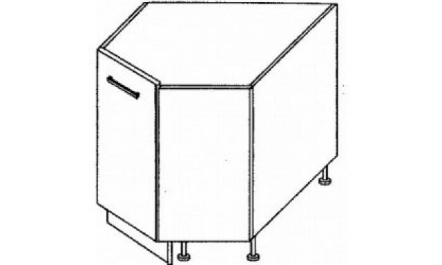 PLATINUM dolná skrinka 90cm D12R / 90 rohová