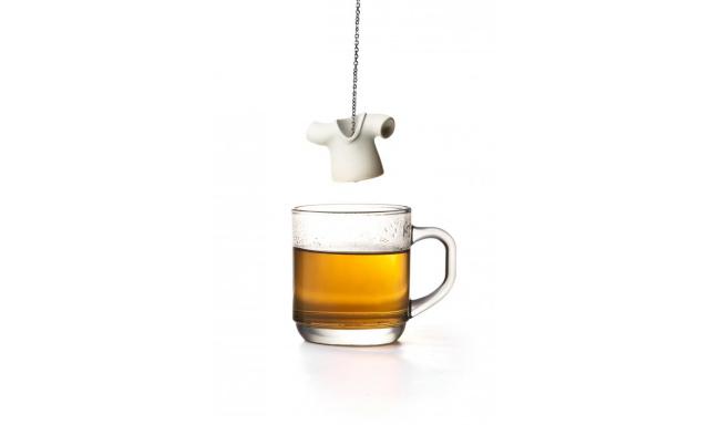 Čajové sitko Qual Tea Shirt, biele