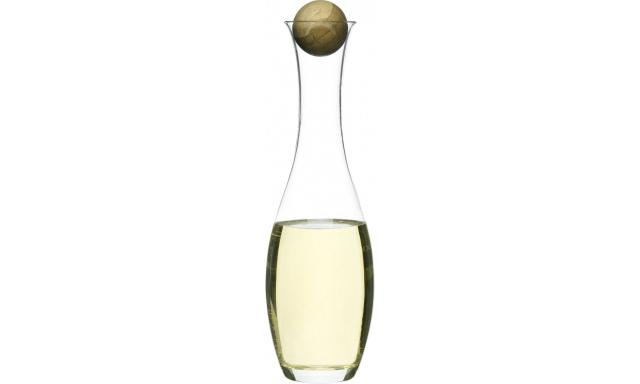 Karafa s drevenou guličkou SAGAFORM Oval Oak, biele víno, 1L