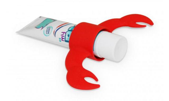 Stojanček na zubnú pastu J-ME Lobster, červený