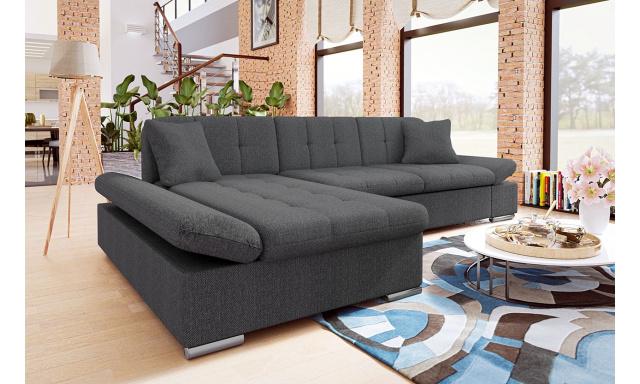 Moderná rohová sedačka Malaga, šedá
