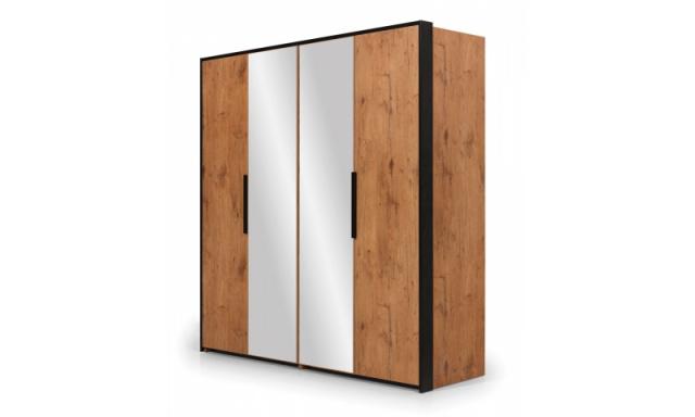 Luxusní šatní skřín Lofoty 4D se zrcadlem