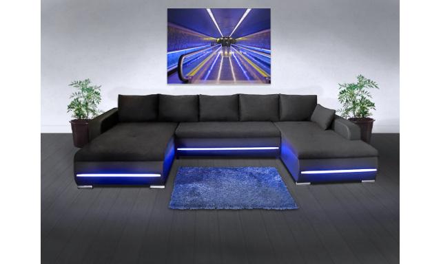 Sedacia súprava Luxury U s LED osvetlením