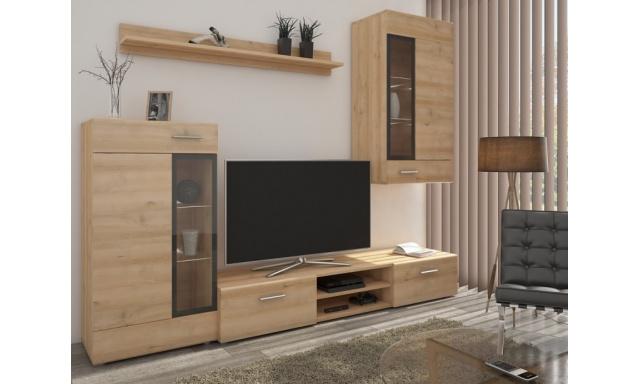 Moderná obývacia stena Tiego, sonoma