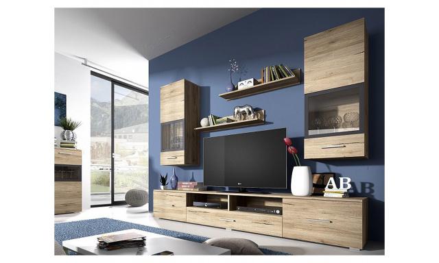 Moderná obývacia stena Sára, dub san remo