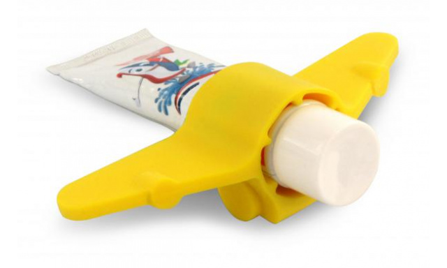 Stojanček na zubnú pastu J-ME Plane, žltý